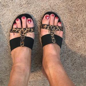 Shoes - Ladies 10 animal print sandal